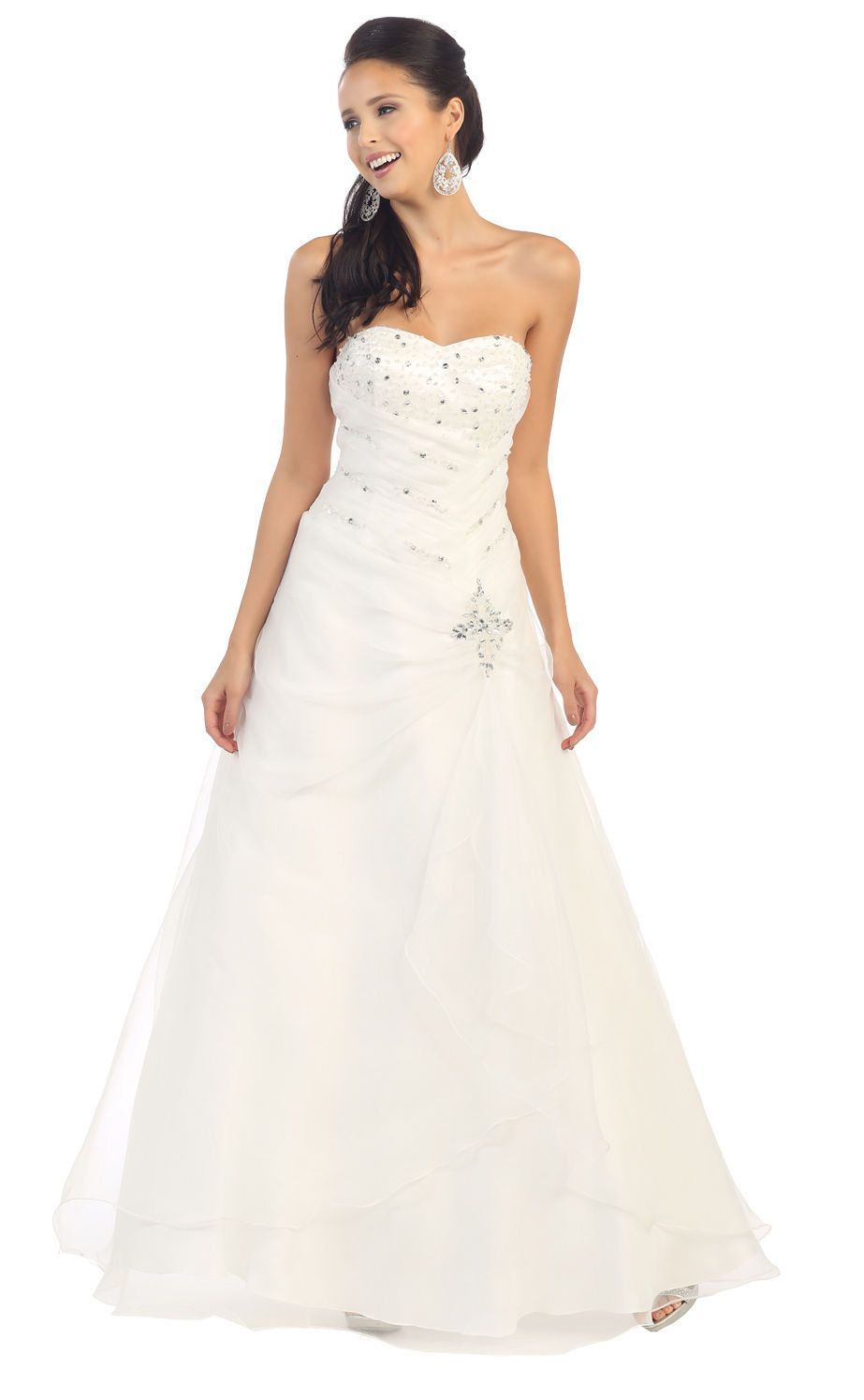 Long Simple Wedding Ball Gown Formal Dress | Wedding ~ maybe someday ...