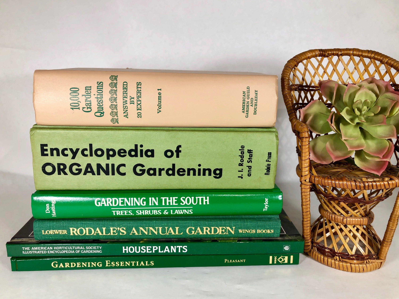 Vintage Gardening Books Set Of 6 Garden Books House Plants