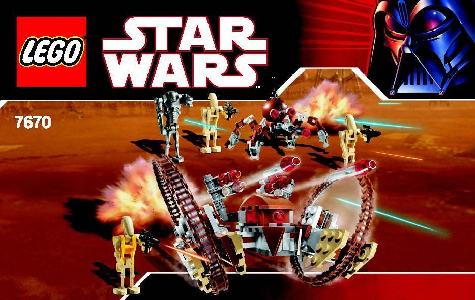 Star Wars Episode 3 Hailfire Droid And Spider Droid Lego 7670