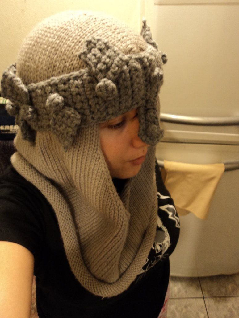 Dante\'s Inferno Helmet Knitted and Crocheted by ~law-ra on ...