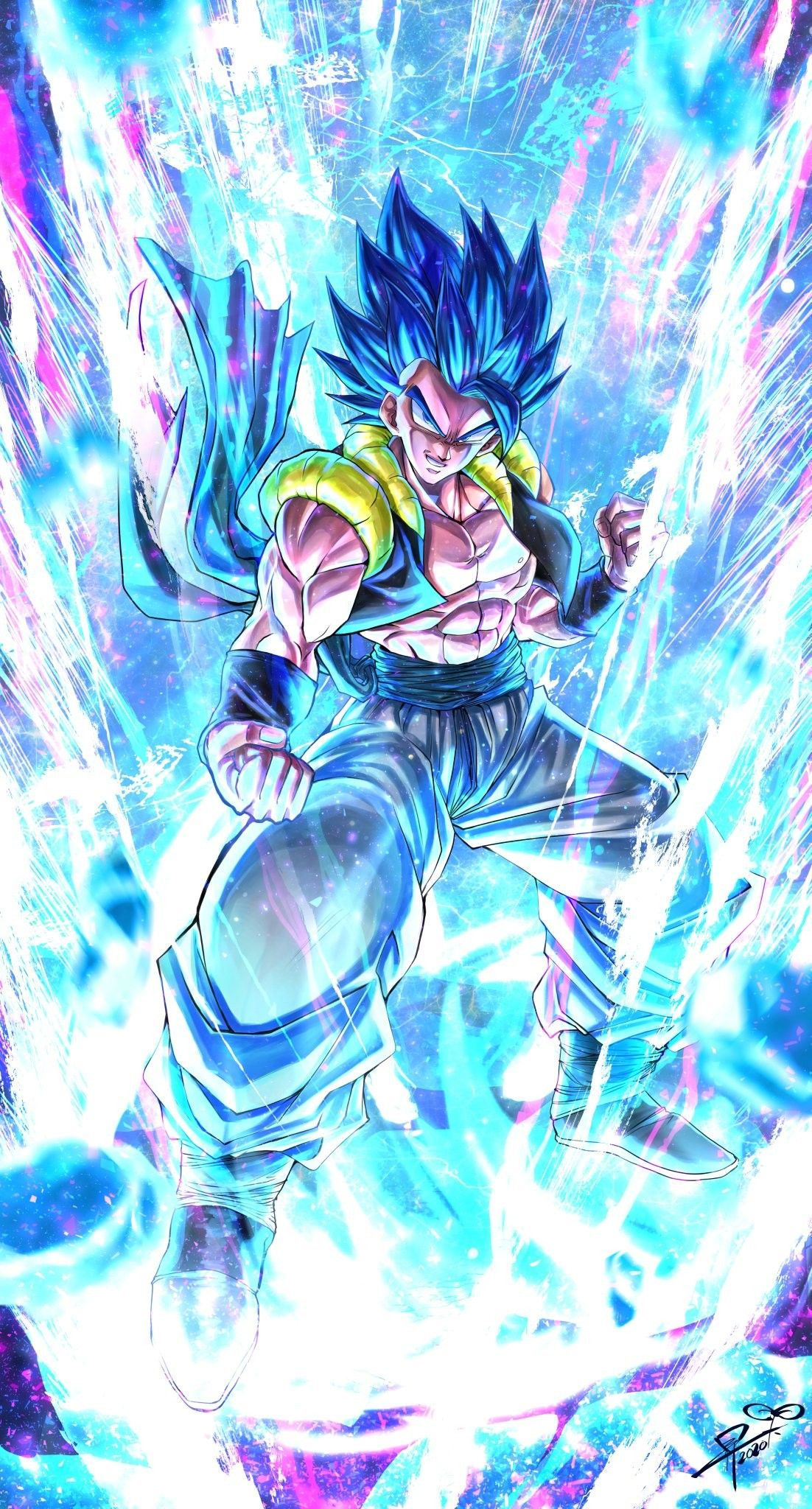 Gogeta By Sumutemu In 2020 Anime Dragon Ball Super Dragon Ball Wallpapers Dragon Ball Z