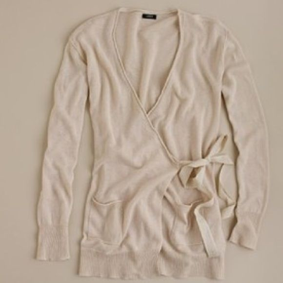 JCrew linen:cotton wrap sweater EUC worn once or twice J. Crew ...