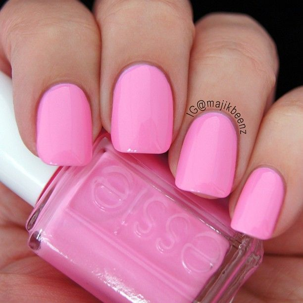 "Bright Pink Nail Polish Colors: Essie ""Boom Boom Room"" --- Instagram @majikbeenz"