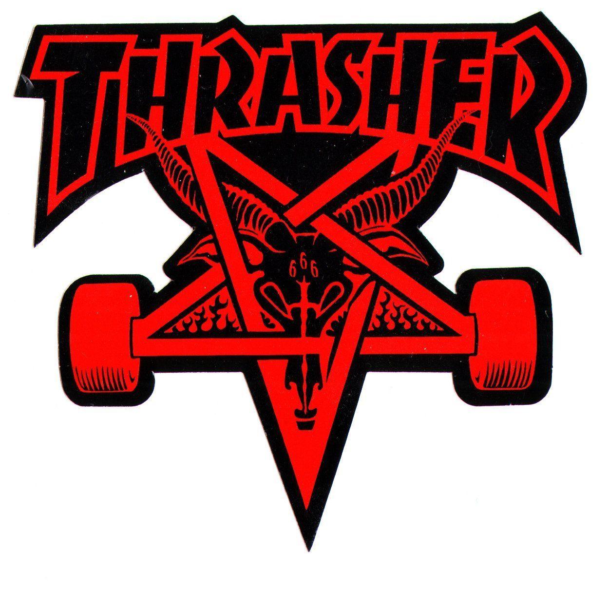 Thrasher Magazine Skate Goat Pentagram Skateboard Sticker