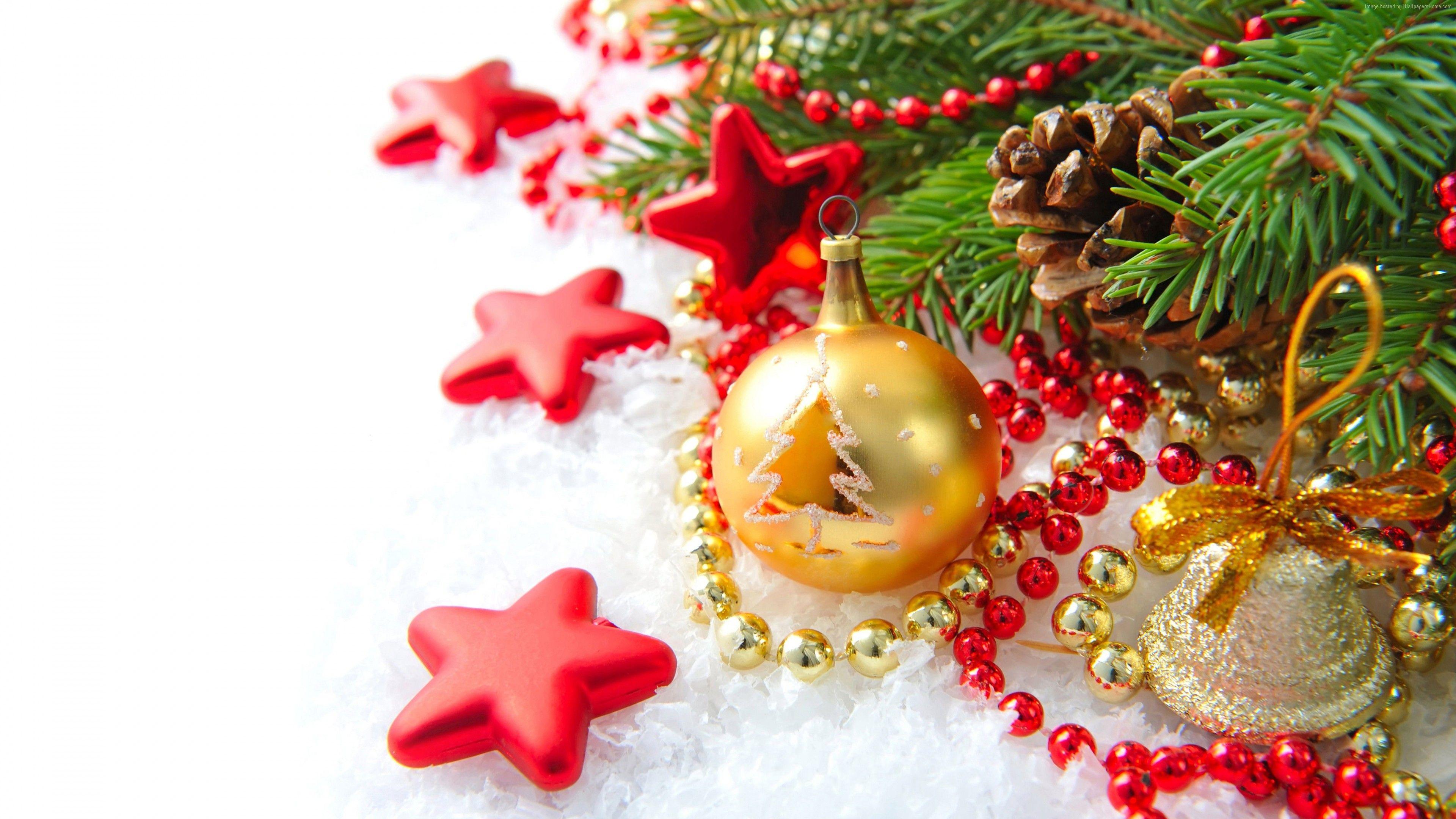 Wallpaper Christmas, New Year, Decoration, Fir Tree, 8K, Holidays Http