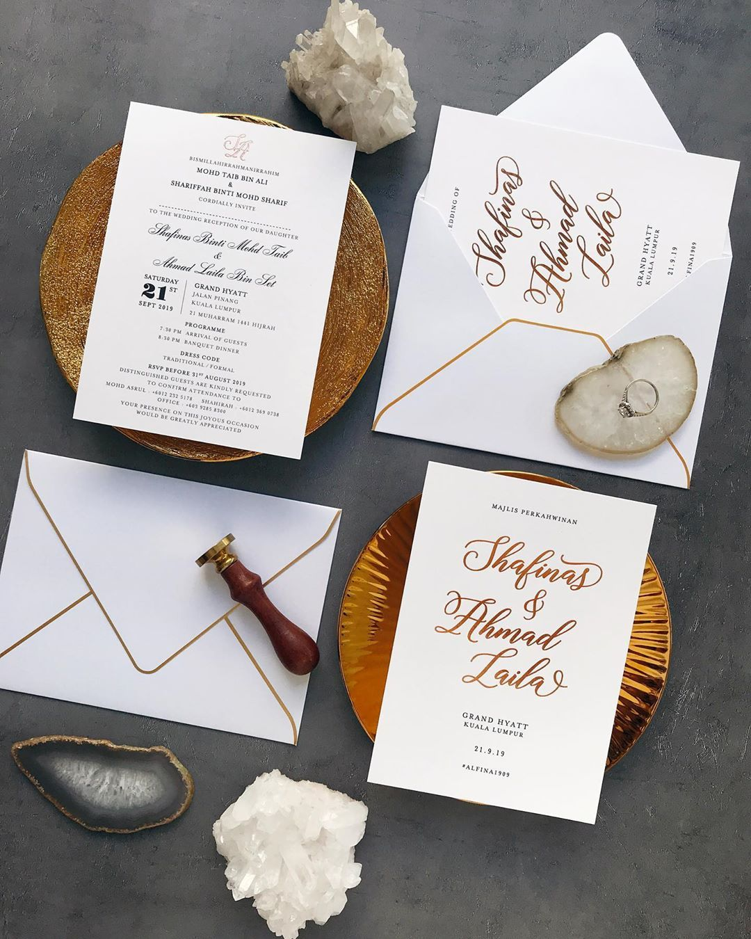 Simple Doesn T Usually Come Cheap But They Are So Worth It When You Have Rose Gold Foil To Make A Statement Luxe Invitations Wedding Cards Rose Gold Foil