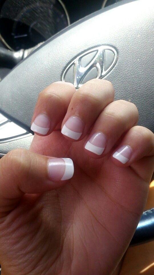 short french manicure acrylic nails pinterest