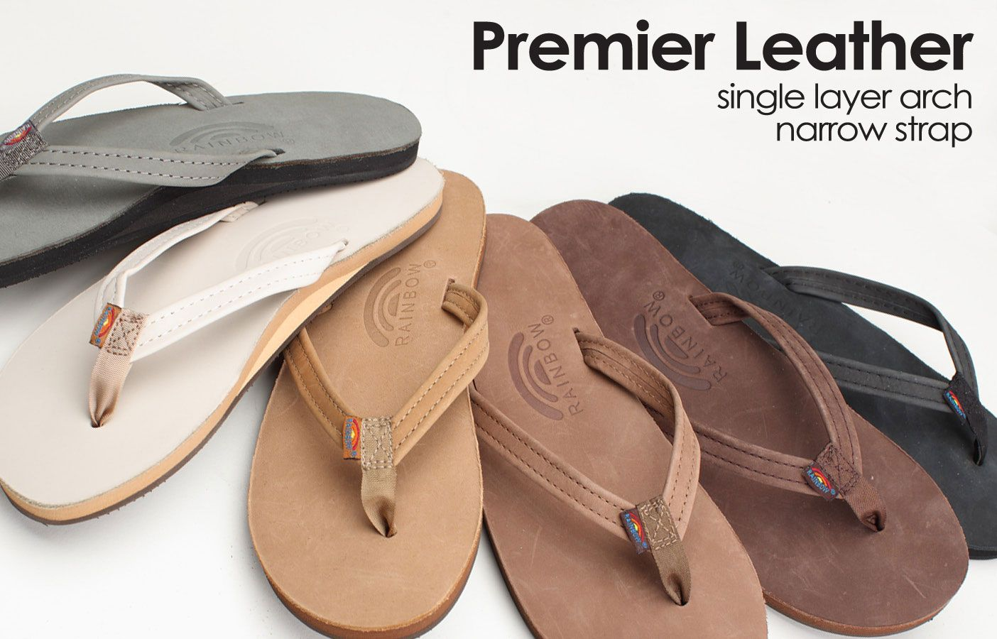 43444115690a2c Premier-Leather-Narrow Authentic Rainbow Sandals. I love San Clemente