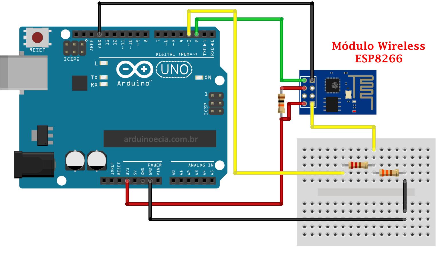 4db66cce62f Conecte o Arduino na rede wireless 802.11 com o módulo ESP8266 ...