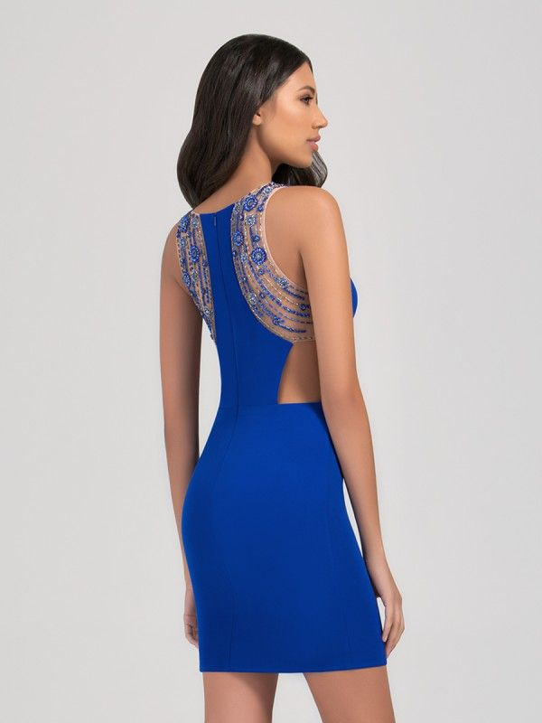 2020 Sexy Short Prom Dresses Sequined Beaded A Line