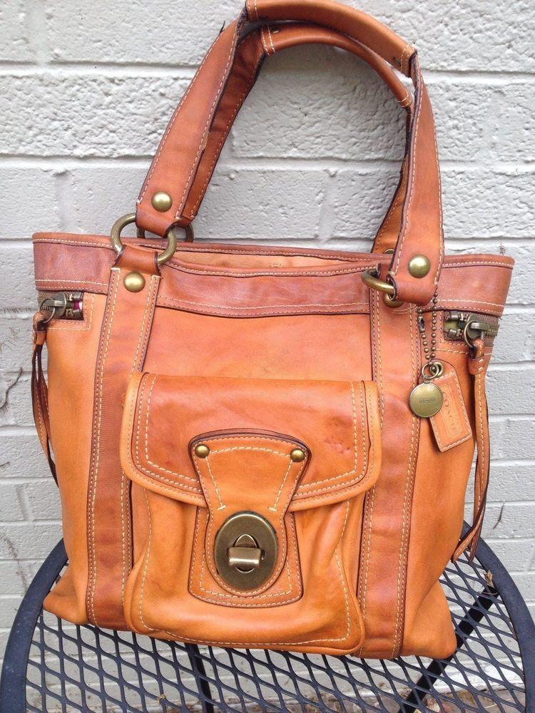 Vintage Coach Leather Shoulder Bag  Coach  ShoulderBag 801099e5f7fe7