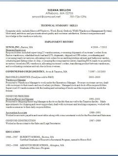Shipping Supervisor Sample Resume Format In Word Free Download