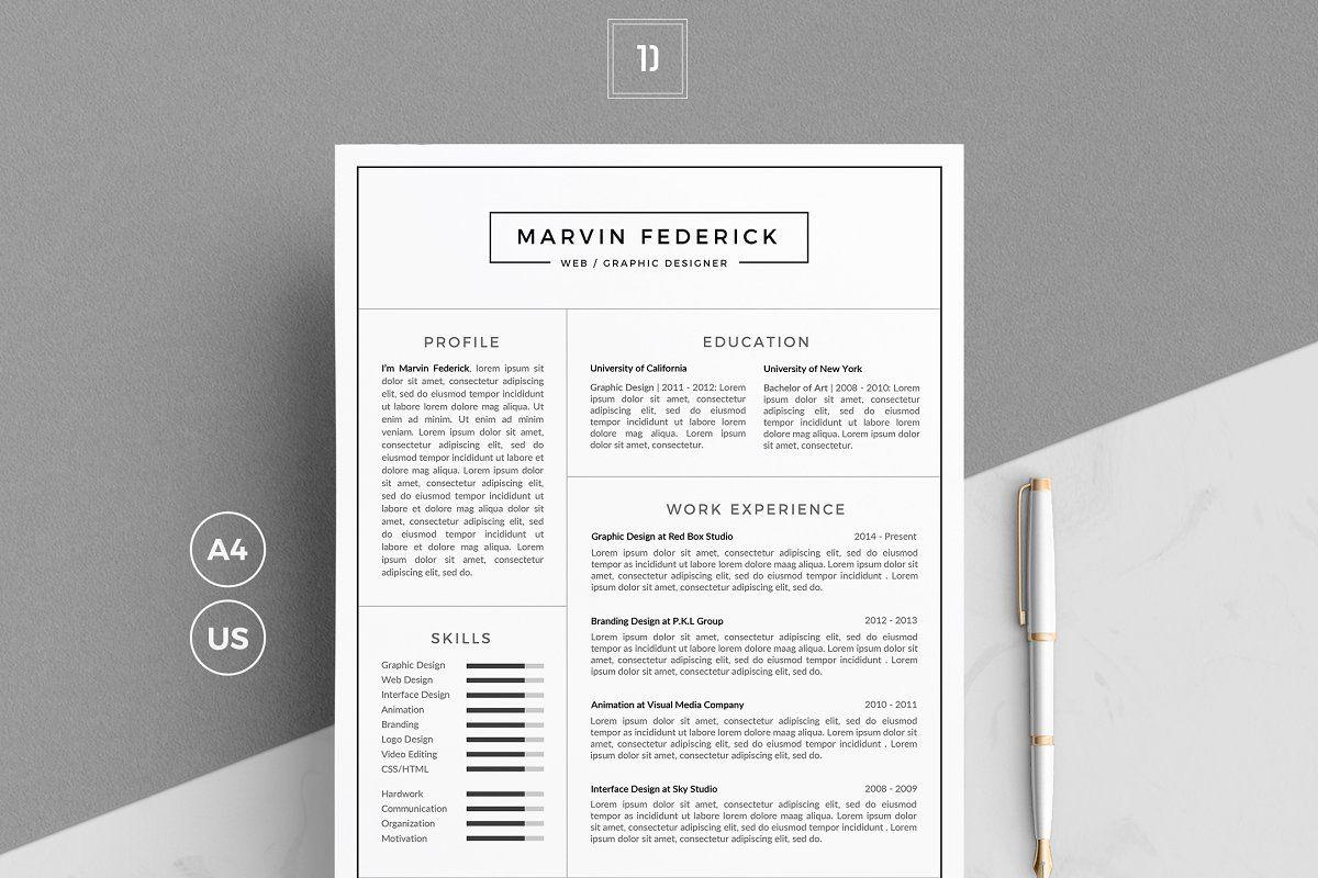 Resumecv mf resume cv cv template cover letter template