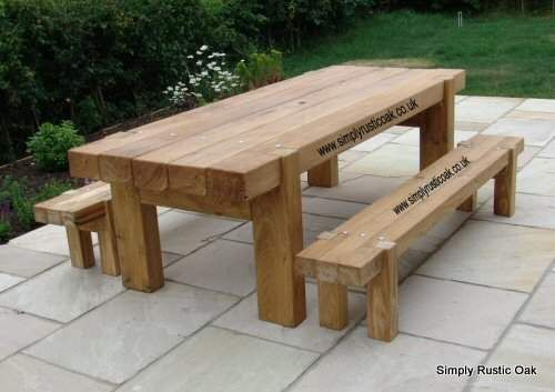 Swell Rustic Oak Garden Bench With Backrest And Arms Furniture Pabps2019 Chair Design Images Pabps2019Com