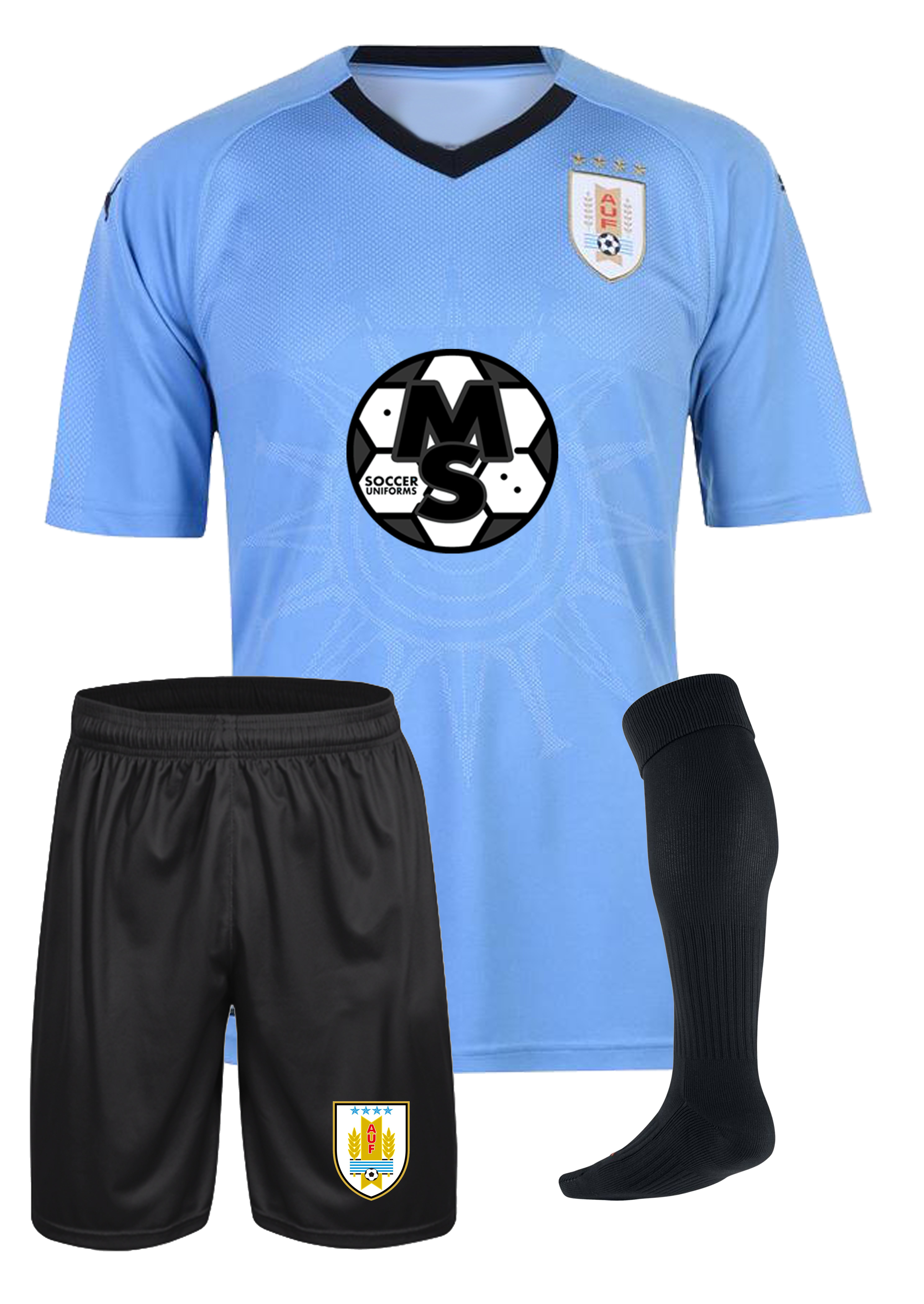 ... uniforms by Soccer Trading Best. Uniformes de futbo del soccer Uruguay  Local 2017-2018 834b6a74f