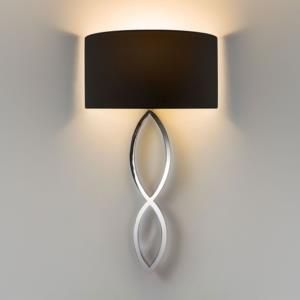 Statement chrome wall light with black shade will create ambiance experts in home lighting aloadofball Gallery