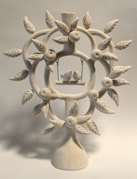 Rebecca Bish Tree Of Life Tree Of Life Art Pottery Sculpture Clay Wall Art