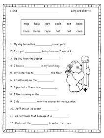 Silent E First Grade Worksheets Phonics Worksheets Free Phonics Worksheets Silent e worksheets for kindergarten