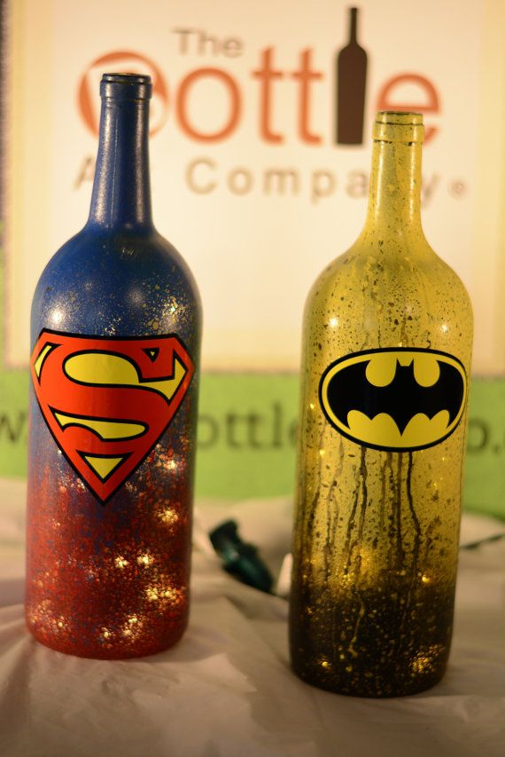 Leere Flaschen Dekorieren Superhero Led Light Up 1.5 Liter Wine Bottle | Basteln