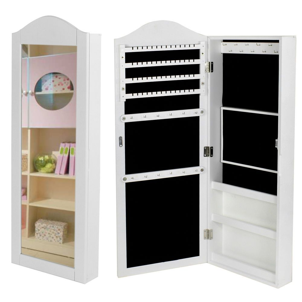 floor mirrored cabinet kitchen amazon com home standing armoire dp organizedlife jewelry black