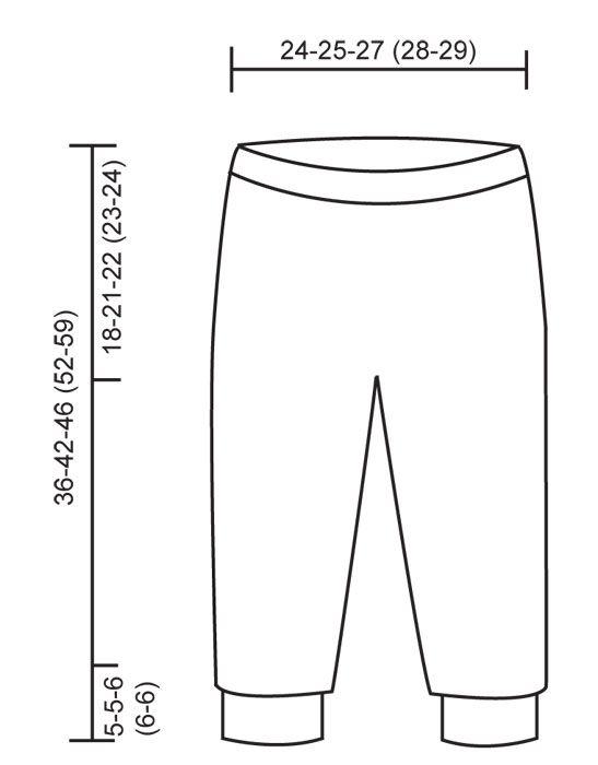 Das Set umfasst: Gestrickter Pullover mit Streifen