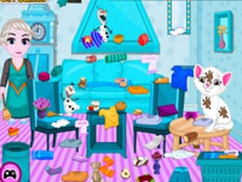Baby Elsa Kitten Room Cleaning GAMES FOR KIDS TWINS GAMES