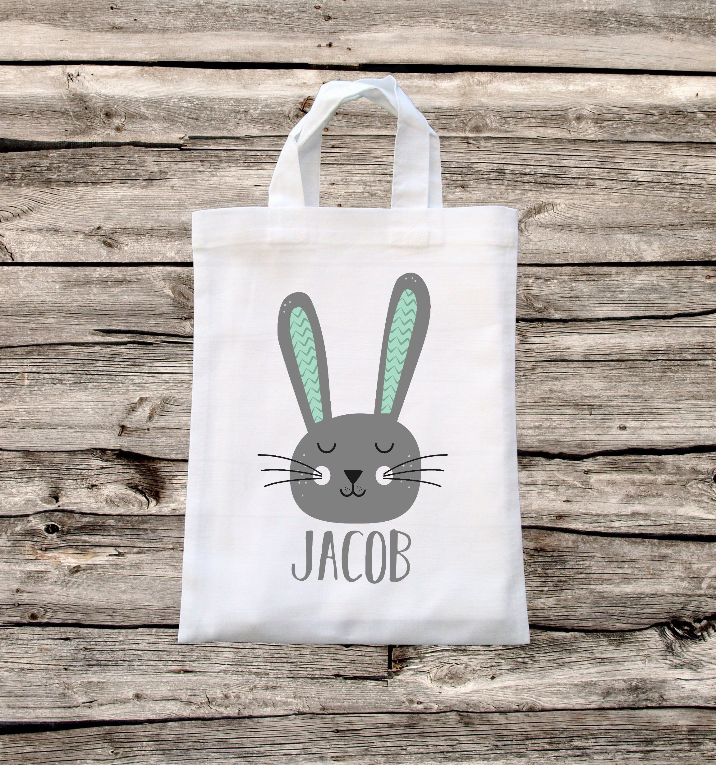 Personalised Easter Treat Bag for Egg Hunt or Candy Cute