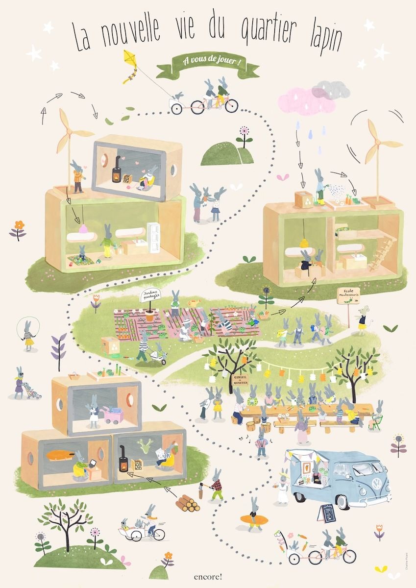 Affiche Le Plan Du Quartier Illustrations Pinterest Affiche