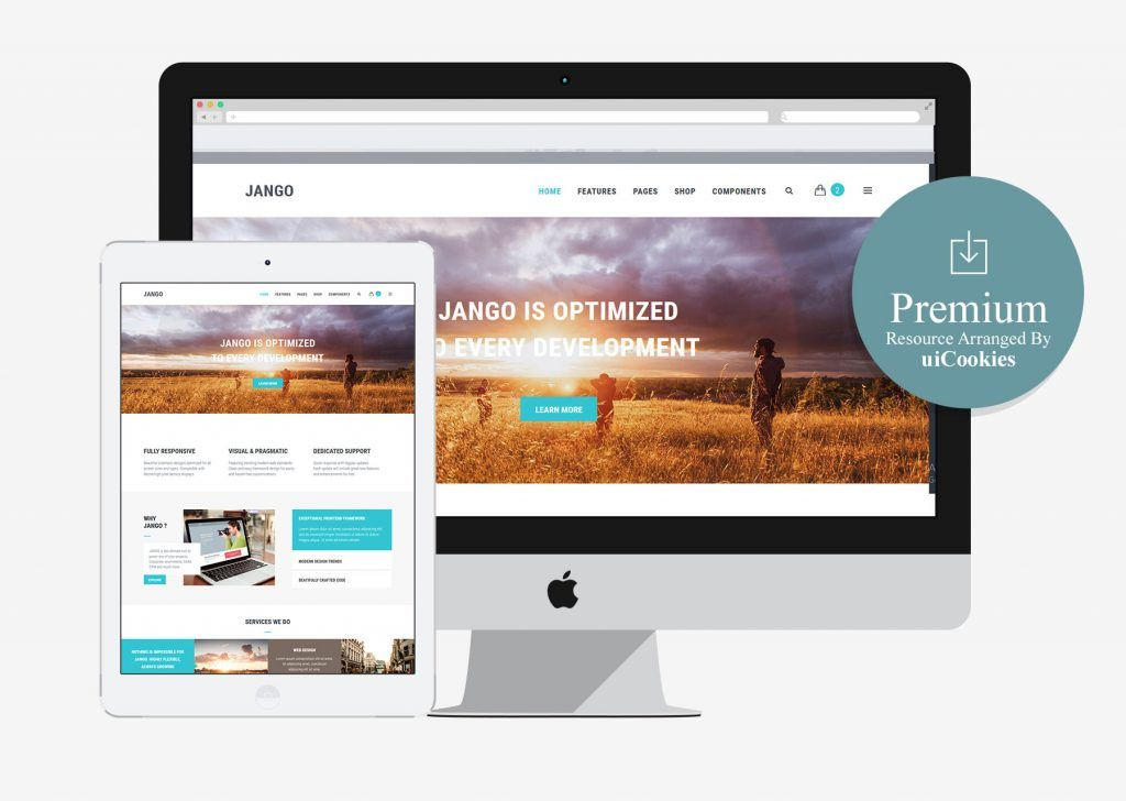 Jango Highly Flexible Component Based Html5 Template Paid