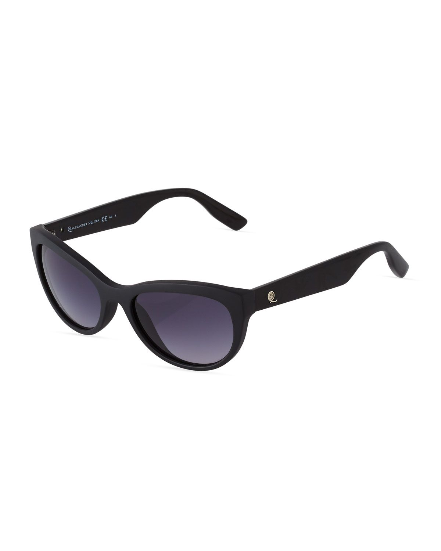 b9d1683da4ac McQ Alexander McQueen Cat-Eye Acetate Sunglasses, Black, Women's