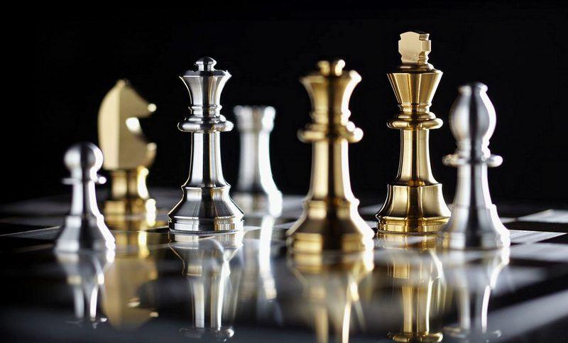 Jogo De Xadrez Com Pecas E Tabuleiro De Prata Banhada A Ouro Pecas De Xadrez Xadrez Jogo Xadrez