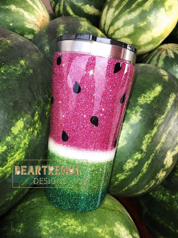Watermelon Glitter Tumbler Designer Epoxy Tumblers Tumbler Tumbler Cups Glitter Cups