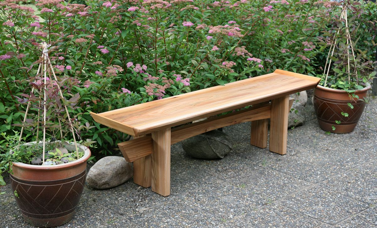 Garden Bench Asian Inspired Japanese Garden Garden Bench