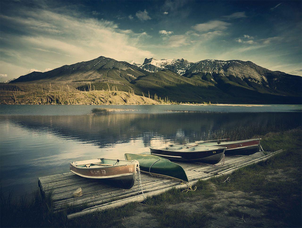 #wanderlust #lake #JasperNationalPark #canoe #mountain #Canada