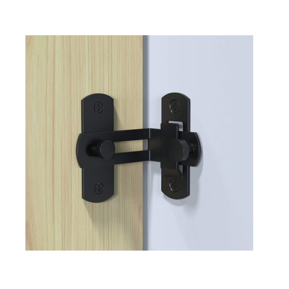 2 Pcs 90 Degree Right Angle Door Latch Hasp Bending Latch Buckle Bolt Sliding Lock Barrel Bolt With Screws For Doors And Windows Door Latch Bolt Lock Latches