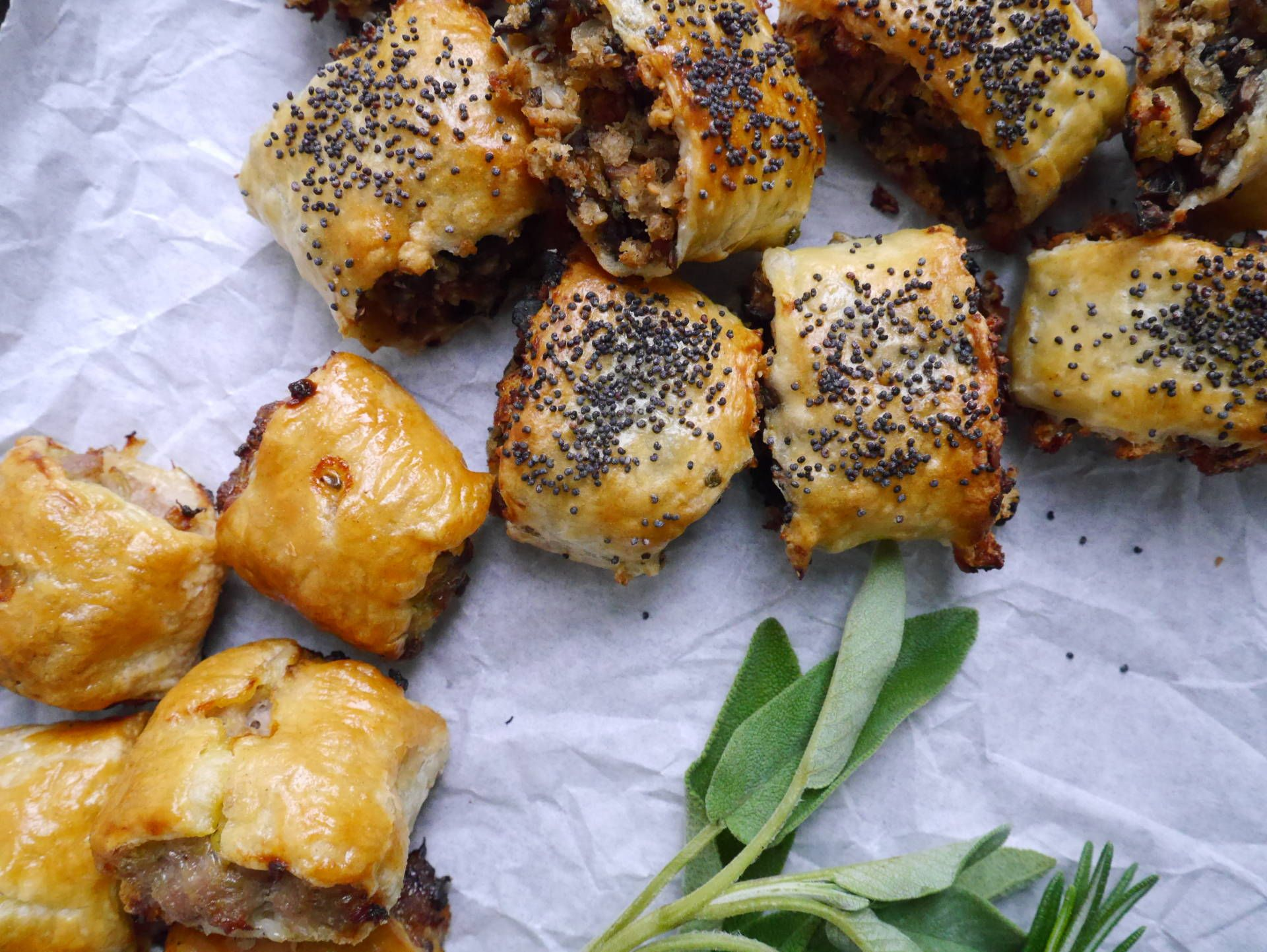 Delicious sausage rolls and mushroom chestnut vegan rolls ready in vegan sausage rolls easy pork sausage rolls the perfect christmas day snack to enjoy with a glass of something cold and fizzy forumfinder Choice Image