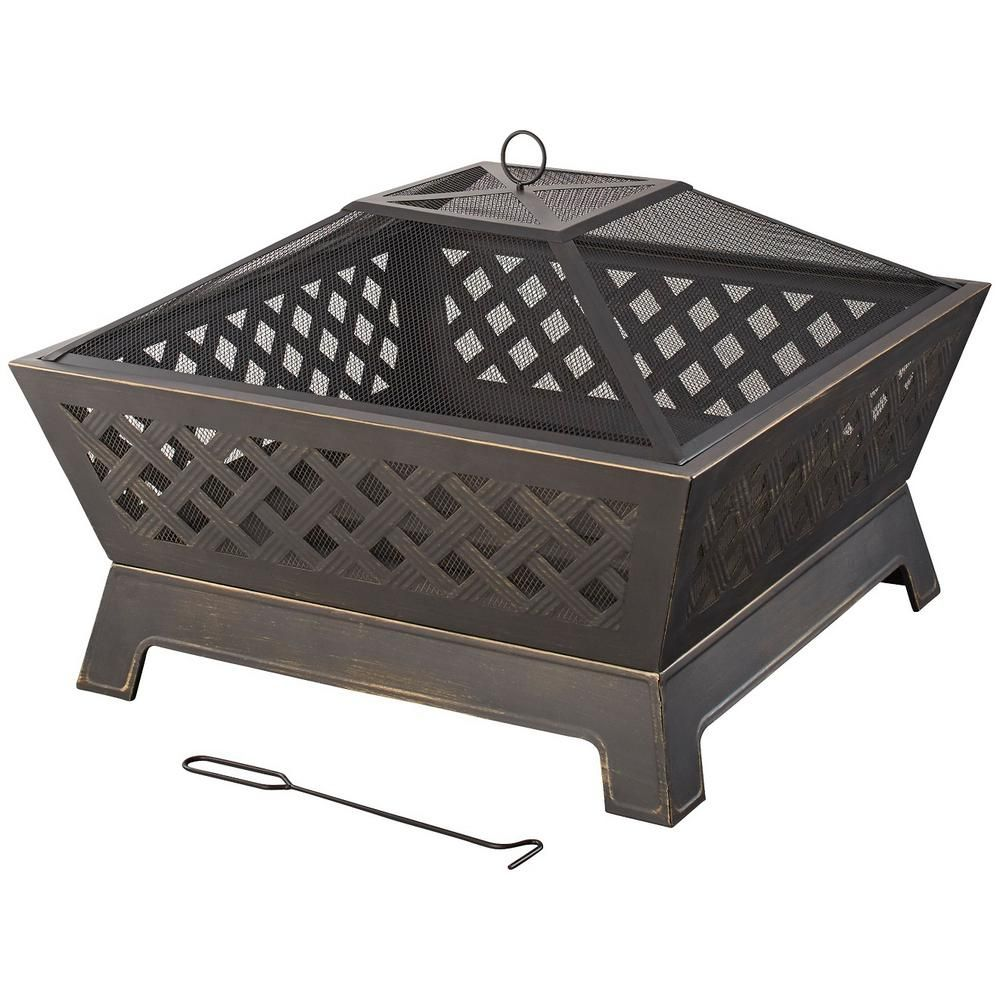 Hampton Bay Tipton 34 In Steel Deep Bowl Fire Pit In Oil Rubbed Bronze Ofw832s With Images Fire Pit Bowl Fire Pit Furniture Outdoor Fire Pit