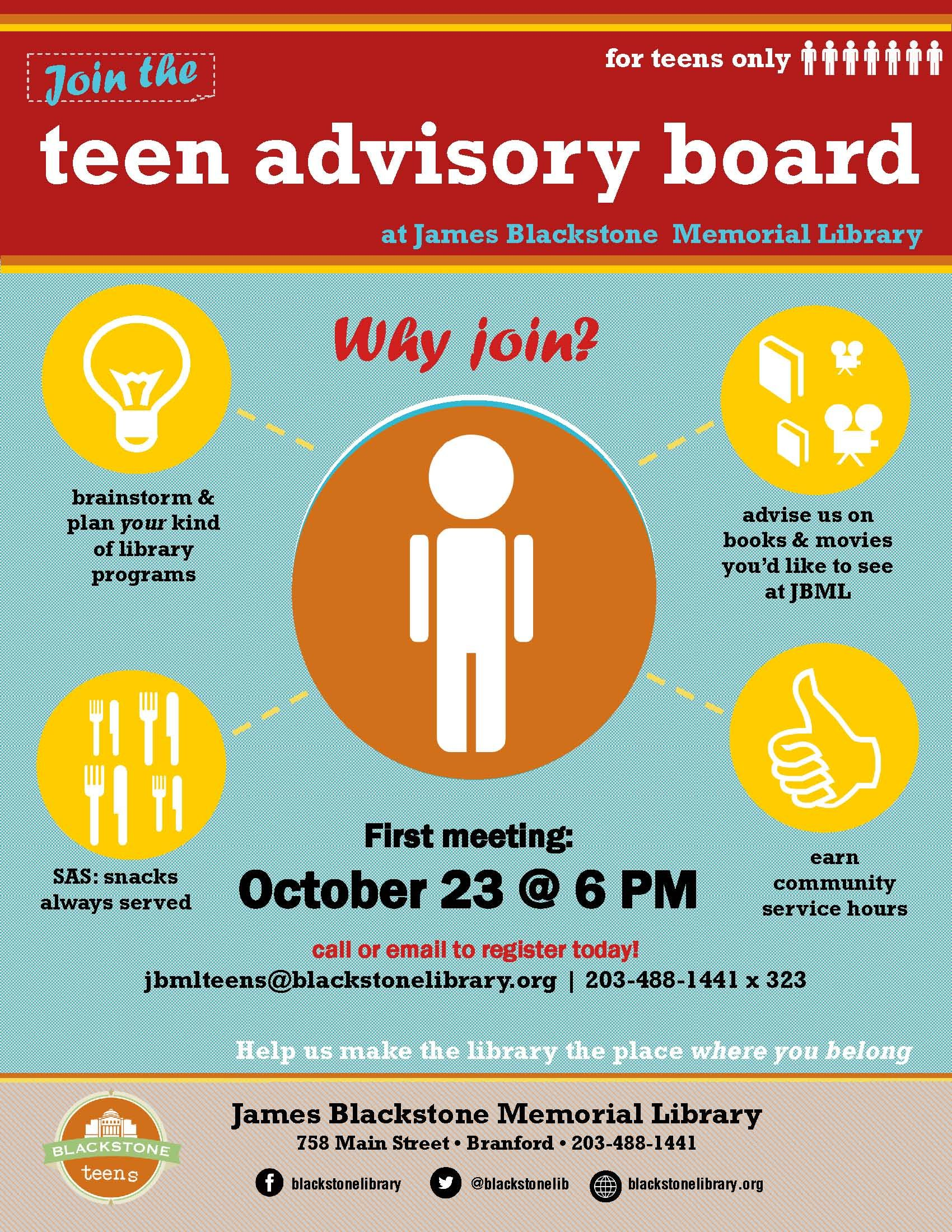 teen advisory board flyer teens in the library teen advisory board flyer