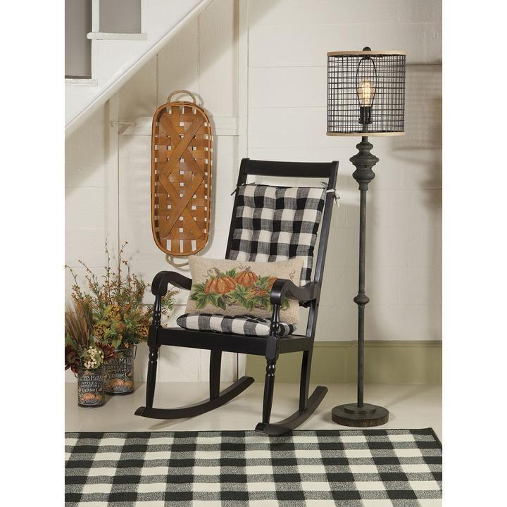 Enjoyable Pastoral Buffalo Check Rocking Chair Cushion Set Latex Uwap Interior Chair Design Uwaporg