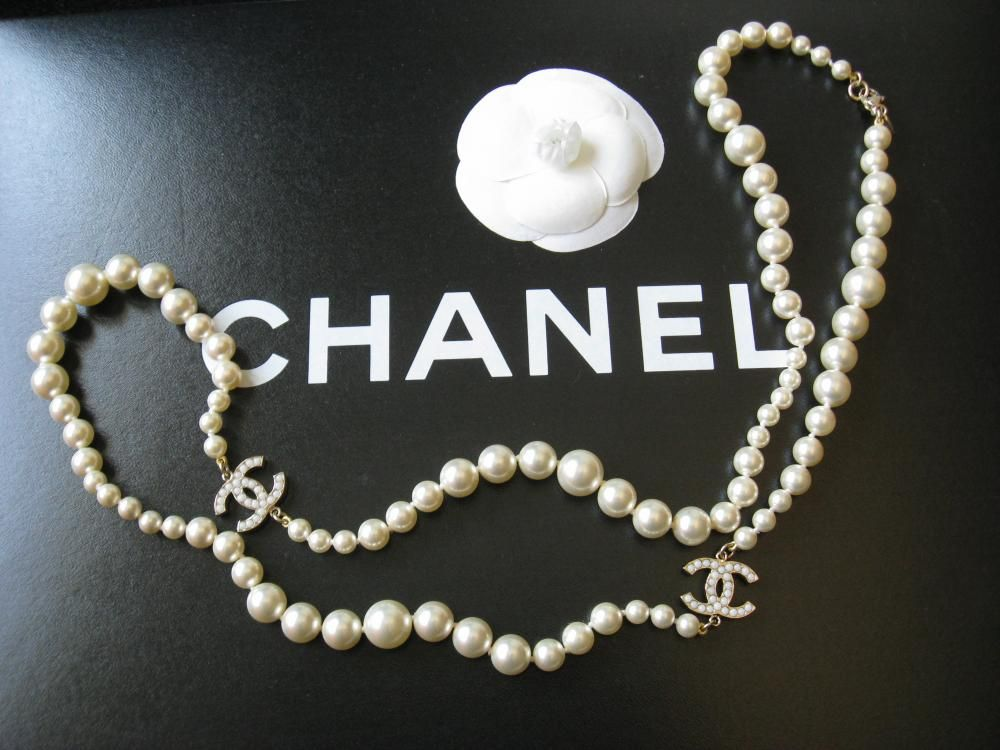 Sold Ruelamode Chanel Pearl Necklace Chanel Pearl Necklace
