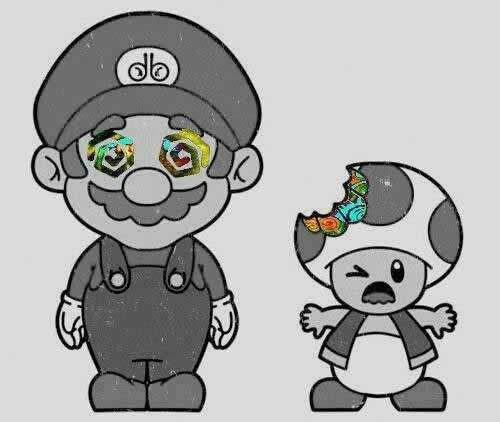 Mario Trip Mario Bros Mushroom Tattoos Trippy