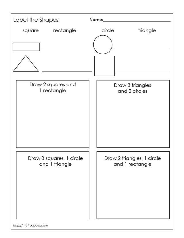 Downloadable Geometry Worksheets for 1st Graders – Basic Geometry Worksheets