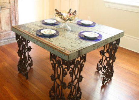 From The Debris Of Hurricane Katrina: Reclaimed Wood New Orleans Table