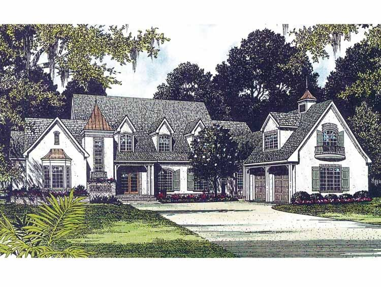 Country Style House Plan 3 Beds 3 5 Baths 4505 Sq Ft Plan 453 235 Country Cottage House Plans French Country House French Country House Plans
