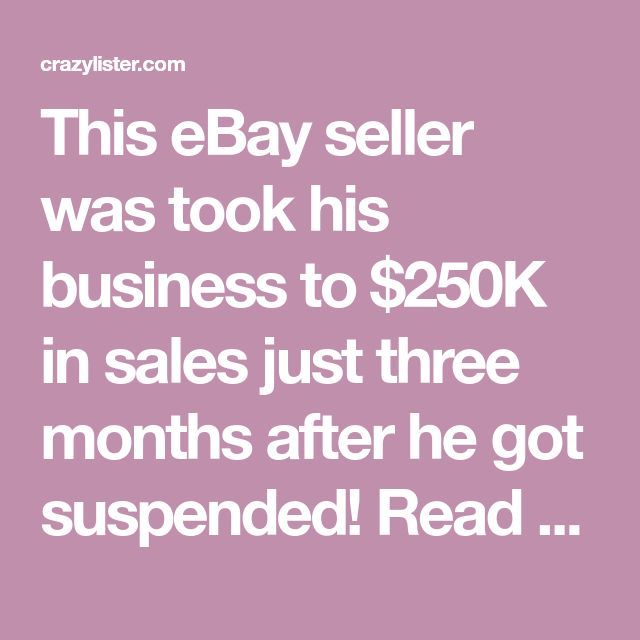 Amazing Ebay Success Stories From Zero To 250k In 3 Months Wow In 2020 Success Stories Money Maker Ebay