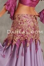 Double Layer FAIRY WRAP SKIRT of Vintage Sari Fabric, for Belly Dance