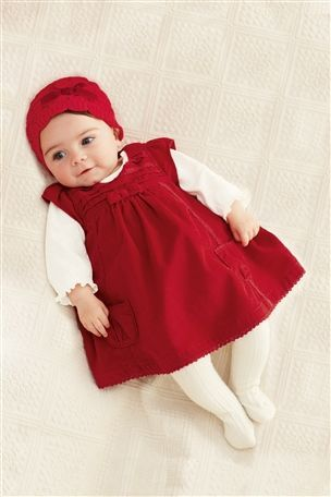 e2315d95c8c2 Buy Red Cord Dress And Long Sleeved Body Two Piece Set (0-18mths ...
