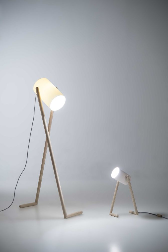 'BOO' lamps by Hedda Torgersen. Somewhat impertinent and adorable, these floor and table lamps have a playful human-like quality