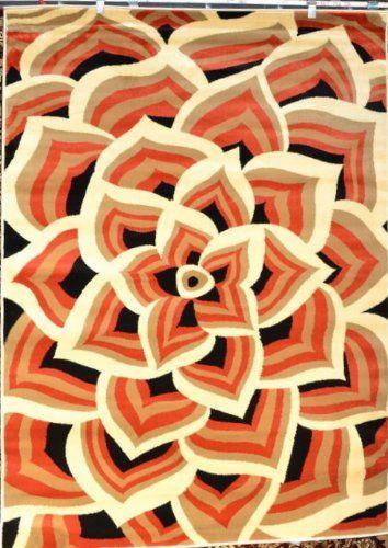 orange black beige cream floral area rug modern carpet large new persianrugs