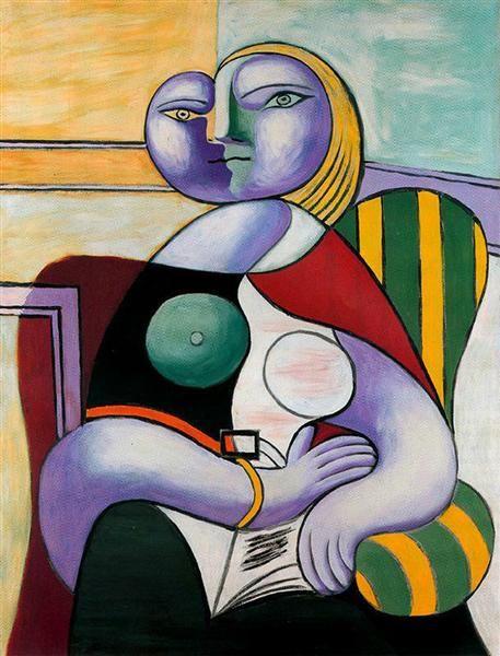 Reading Pablo Picasso Original Title: La lecture Date: 1932 Style:  Surrealism Period: Neoclassicist & Sur…   Pablo picasso art, Picasso art, Pablo  picasso paintings
